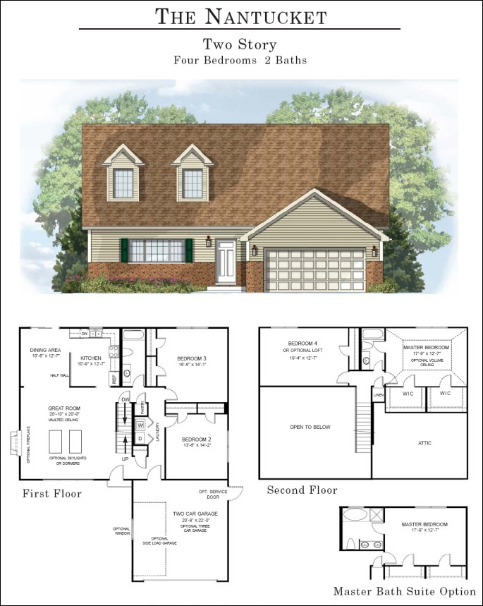 nantucketfp1 the nantucket,House Plans That Can Be Expanded